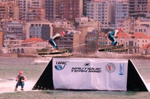 Water ski show,  jumping by Stars Of Florida in Beirut, Lebanon