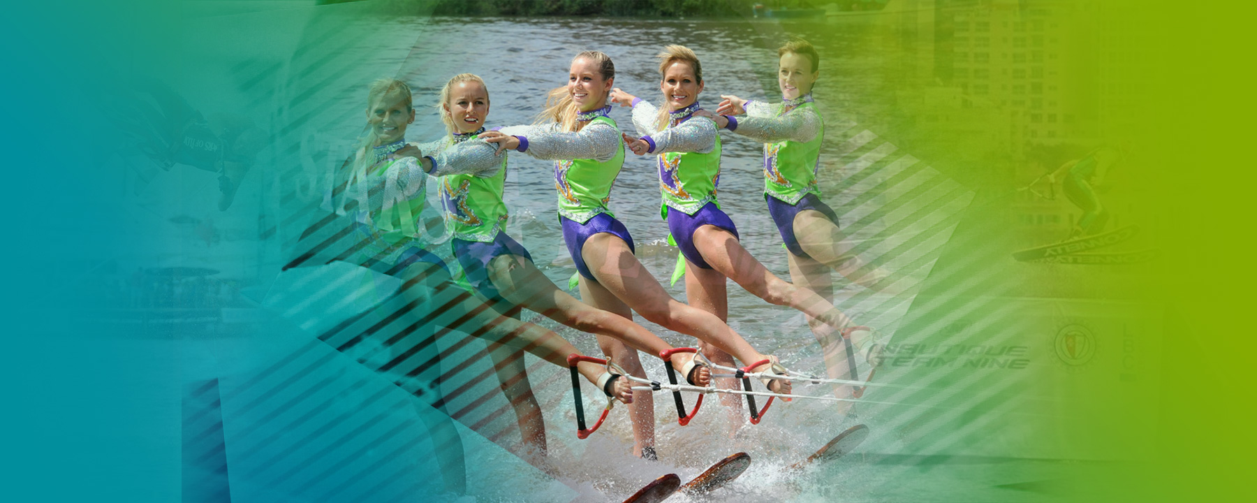 The Girls of Stars Of Florida water ski show Ballet line