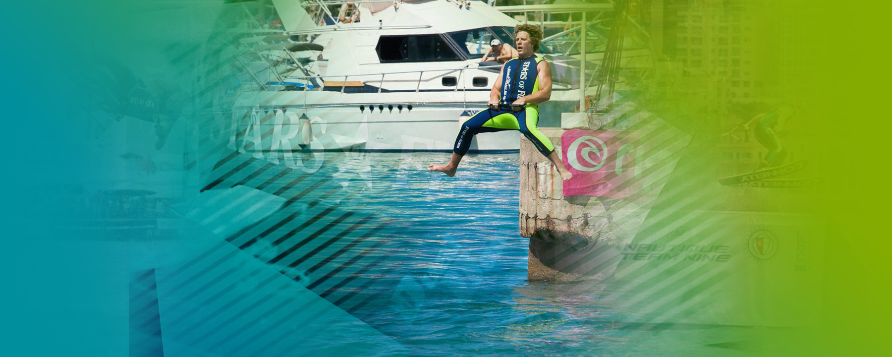 Water ski show Barefoot
